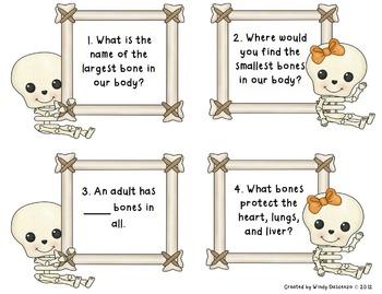 Task Cards-Human Body (Skeletal System, Muscular System, Skin)