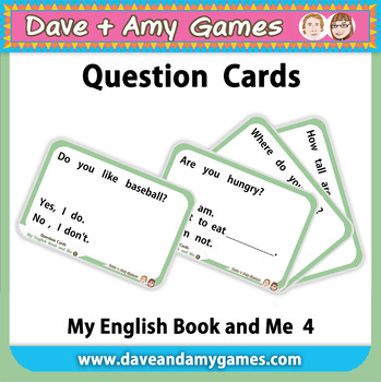 Question Cards: My English Book and Me 4