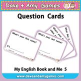 Question Cards: My English Book and Me 5