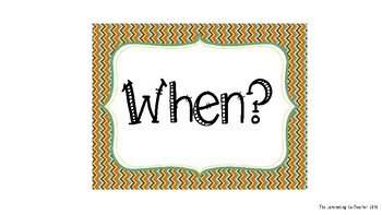 Question Cards (Who, What, Where, When, Why &  How)