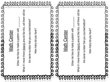 Question Cards for Center Time