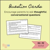 Question Cards for Parents