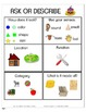 Question Carnival Game - Asking, Answering and Describing