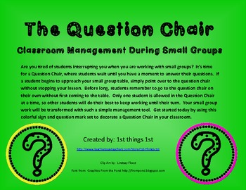 Question Chair - FREEBIE!