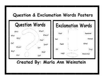 Question & Exclamation Words Posters