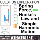 Question Exploration: Spring Force, Hooke's Law and Simple Harmonic Motion