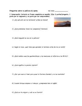 Question Guide for El Norte/The North