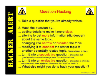Question Hacking Anchor Chart