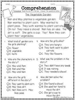 Question It!  Comprehension Passages with Multiple Choice Questions