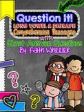 Question It! Short Answer Long Vowel and Digraph Comprehension Passages