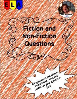 Question Jar Fiction and Non-fiction Questions
