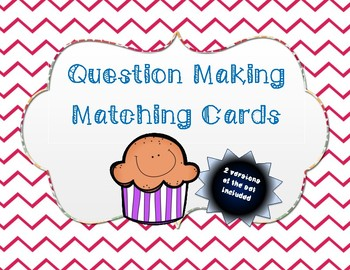 Question Making- Matching cards