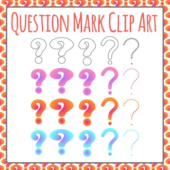 Question Mark Clip Art Set for Commercial Use