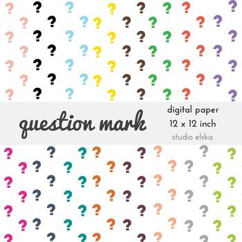 Question Mark Digital Paper - Studio ELSKA