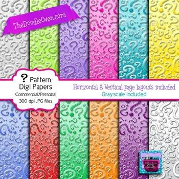 Question Mark Pattern - Mystery Digital Paper