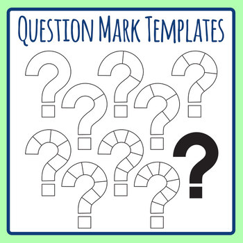 Question Mark Templates Clip Art Set for Commercial Use