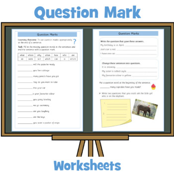 Question Marks Free Worksheet