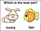 Question Of The Day -Whole Class Graph Favorite Pets