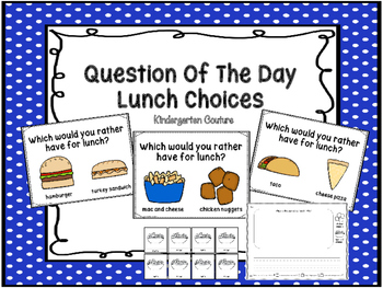 Question Of The Day -Whole Class Graph (School Lunch)