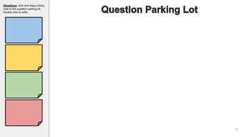 Digital Question Parking Lot for Google Classroom