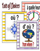 Question Posters/Word Wall Cards/Banners in FRENCH-Stripe Patterns