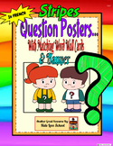 Question Posters/Word Wall Cards/Banners in FRENCH-Stripe