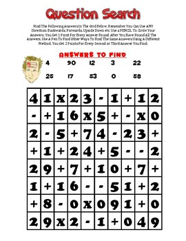 Question Search 2 - Open Ended Puzzles For Adding, Subtracting and Multiplying