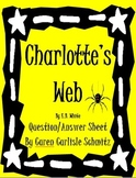 Question Sheet - Charlotte's Web