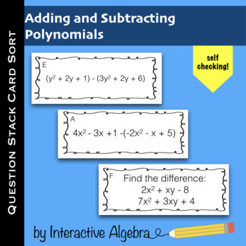 Question Stack: Add and Subtract Polynomials Practice