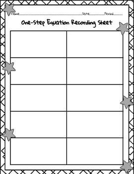 Question Stack - One-Step Equations TEK 6.10A