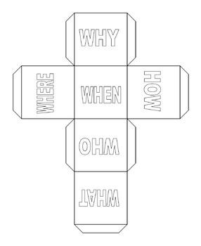 Question Starter Cubes