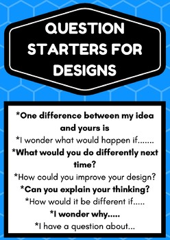 Question Starters For STEM Design Projects