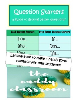 Question Starters for the inquiry classroom
