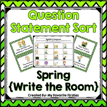 Question Statement Sort Write the Room {Spring}