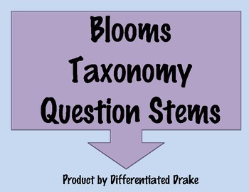 Question Stem Posters