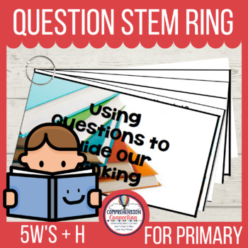 Question Stem Ring for the 5 W's plus H Freebie