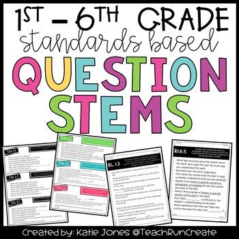 Question Stems 1st - 5th Grade