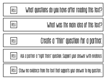 Question Stems: 3rd Grade Informational Text - Common Core Aligned!