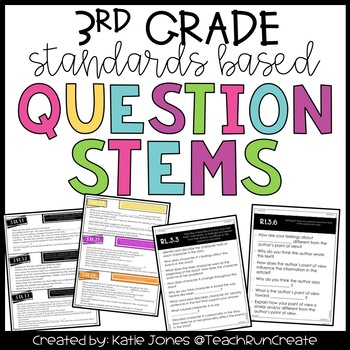 Question Stems - 3rd Grade Standards Based