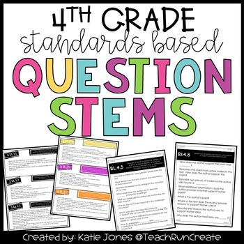 Question Stems - 4th Grade Standards Based