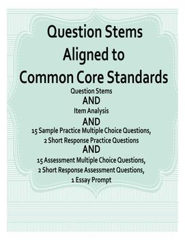 Question Stems Common Core Standards (ft A Raisin in the Sun)