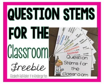 Question Stems for the Classroom according to the Bloom's Level. Great for Teacher or Student lead discussion. https://www.teacherspayteachers.com/Product/Question-Stems-for-the-Classroom-2816559