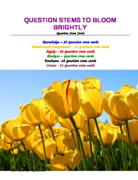 Question Stems to Bloom Brightly