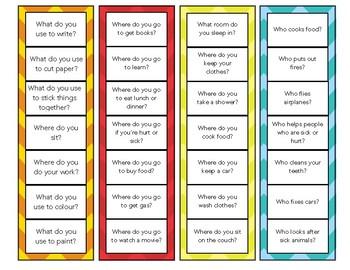 Question Strip Clip Cards