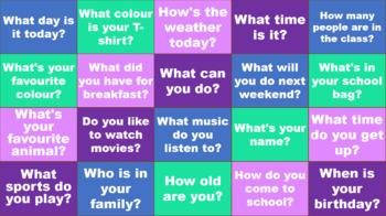 Question Time - Interactive PowerPoint - ESL speaking and Warm up game