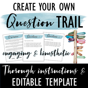 Question Trail Template: Engaging Kinesthetic Activity for ANY Subject!