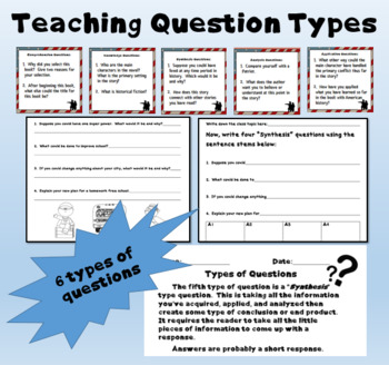 Question Types:  Defining, answering & creating deep thinking questions