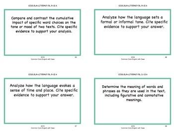Reading Response Task Cards Fiction & Non-Fiction: Grade 9 - 12