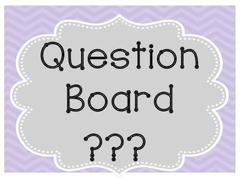 Question Wall {Classroom Management}