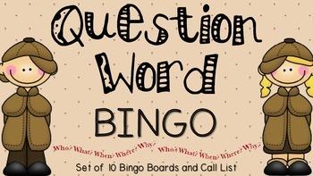 Question Word Bingo Set
